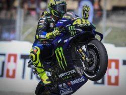 Valentino Rossi Tes Silencer Knalpot di MotoGP Catalunya