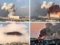 Ledakan Dahsyat Lebanon, Warga Berduka, Lebanon Menjerit Histeris