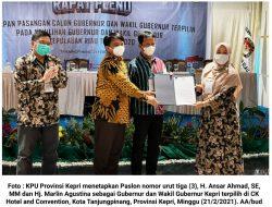 KPU Tetapkan Ansar-Marlin sebagai Gubernur dan Wakil Gubernur Kepri Terpilih