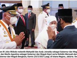 Presiden Lantik Gubernur dan Wakil Gubernur Sumbar, Kepri dan Bengkulu
