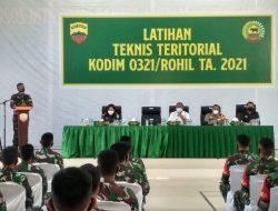 Dandim 0321/ Rohil buka latihan teknis teritorial