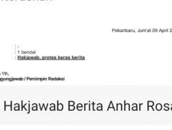 Terkait Berita Ismail Sarlata dkk, Akan Berurusan Dengan Pengurus PJID Riau, Ini Hak Jawab Ismail Sarlata