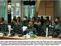 Lantamal IV Selaku Kogasgabhantai Ikuti Briefing Pelaku Latihan Armada Jaya XXXIX 2021