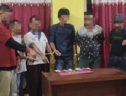 Asik Bermain Judi Menggunakan Kartu Domino, Enam Pelaku Ditangkap Unit Reskrim Polsek Kampar Kiri
