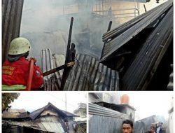 Gudang Raja Sofa Dan 1 Unit Rumah Di Desa Kubang Jaya Siak Hulu, Terbakar