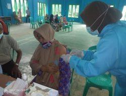 Kapolsek Kumpeh ilir Iptu Muhammad Rafisal Pantau langsung vaksin Di Dua Desa