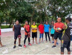 Rutin Jalin Silaturrahmi, Polda Sumut Olahraga Bersama Mahasiswa Papua