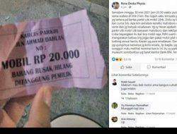 Terkait Viralnya Parkir di Malioboro Rp20.000, Ini respon Dishub