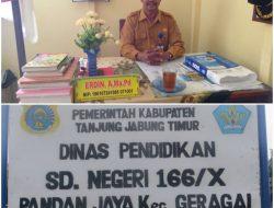 Kadisdik Layang kan Surat Ke Inspektorat; Periksa Kepsek SDN 166/X,Pandan Jaya.