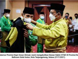 Ansar Ahmad Lantik Hakim STQH IX Kepri