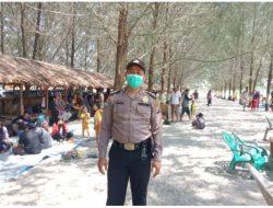 Polres Sergai Ops Yustisi di Sejumlah Objek Wisata Pantai Cermin