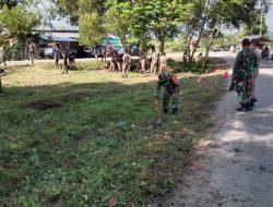 Bersama Rekan TNI, Babinsa Amsir Wujudkan Taman Baca