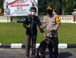 Kapolres Merangin AKBP Irwan Andy Purnamawan, S.I.K Menyerahkan Hewan Qurban Kepada PMII dan HMI