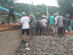 Babinsa dan Warga Dukung Pembangunan Masjid Nurul Iman