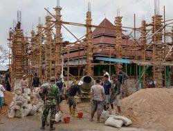 Babinsa se-Taliabu 'Turun Tangan' Bangun Masjid di Bobong