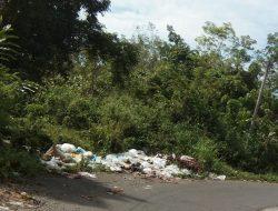 Tumpukan Sampah di Desa Kotorami Kec.Lembah Masurai