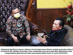 Narasumber Voice of Indonesia RRI : Ansar Ahmad Paparkan Jurus Pemulihan Ekonomi di Kepri
