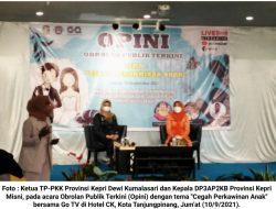 DP3AP2KB Kepri Gelar Sosialisasi Cegah Perkawinan Anak