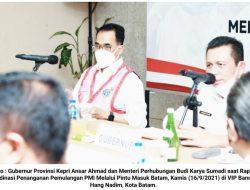Gubernur Kepri dan Menhub RI Gelar Rakor Bahas Pemulangan PMI