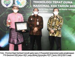 Posyantek Teluk Bakau Hantar Pemprov Kepri Raih Penghargaan Nasional