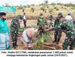 Tanam 1000 Pohon, Kodim 0317/TBK Ajak Masyarakat Jaga Kelestarian Lingkungan