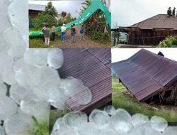 Desa Pulau Tengah Di guyur Hujan Es Dan Angin Kencang