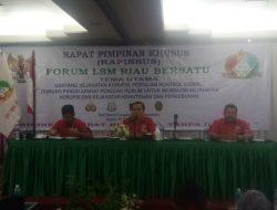 Rapat Pimpinan Khusus Forum LSM Riau Bersatu