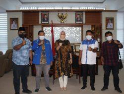 Bersama Bupati Inhu Rezita, DPD KNPI Riau Diskusikan Kemandirian Pemuda