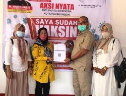 DPC Partai Gerindra Kota Payakumbuh Gelar Vaksinasi Gratis Selama 2 Hari