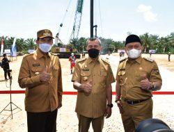 Bupati Kampar Dan Gubernur lakukan Pemancangan Tiang Pertama SPAM Pekanbaru Kampar