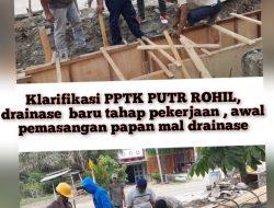 Klarifikasi pemberitaan pengerjaan proyek pembangunan drainase di basira