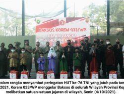 HUT '76 TNI: Libatkan Satuan Jajaran, Korem 033/WP Gelar Baksos di Wilayah Provinsi Kepri