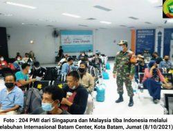 Ratusan PMI Asal Singapura dan Malaysia Tiba di Kota Batam, 1 Orang Positif Covid-19