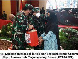 TNI Peduli Masyarakat: Danrem 033/WP Berikan 1000 Sembako dan BTPKL