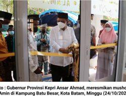 Sempena Maulid Nabi Muhammad SAW, Ansar Ahmad Resmikan Mushola Al-Amin di Kampung Batu Besar