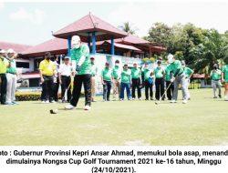 Gubernur Kepri Buka Nongsa Cup Golf Tournament 2021 ke-16