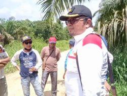 Kasi Intel Kejari Muaro Jambi, Cek Tapal Batas Desa Sogo Tanjung Dan Desa Seponjen