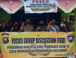 KBO Satbinmas Polres Merangin Melaksanakan Kegiatan Focus Group Discucsion (FGD) Tentang Penggunaan Dana Desa Untuk Penangan Covid-19 Di Desa Lubuk Napal