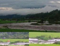 Banjir Bandang Sawah Warga Desa Muara Madras Dan Sekitarnya Terbawa Arus Sungai Mentenang