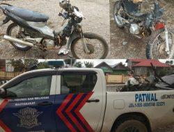 Kecelakaan (Adu kambing) Di Jangkat Satu Pengendara Motor Ojek Kebun Tewas